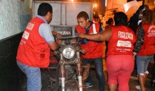 Rímac: municipalidad retiró a ambulantes que vendían pollos en Caquetá