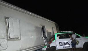 Barranca: dos muertos tras despiste de bus interprovincial