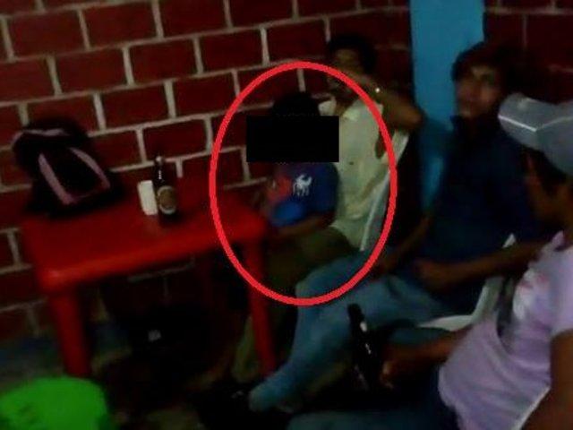 Rescatan a niños que se encontraban dentro de cantina mientras sus padres bebían alcohol
