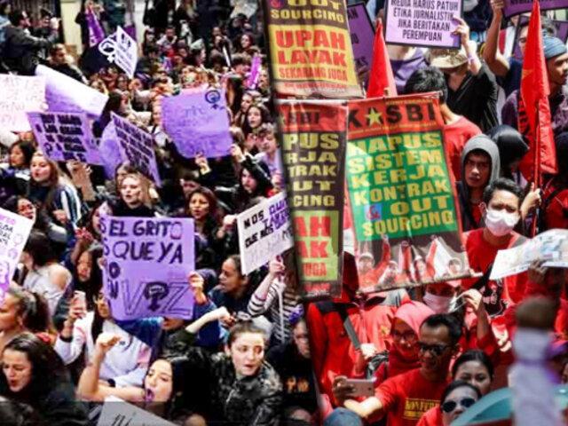 Marchas por el Día de la Mujer en ciudades de todo el mundo