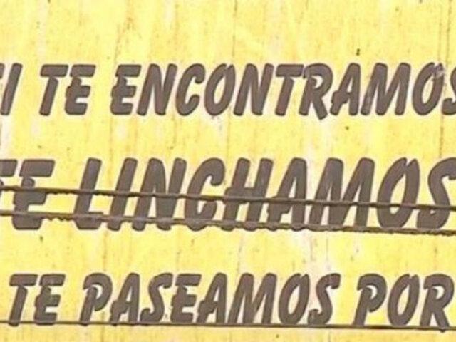 Iquitos: colocan carteles donde advierten que lincharán a ladrones