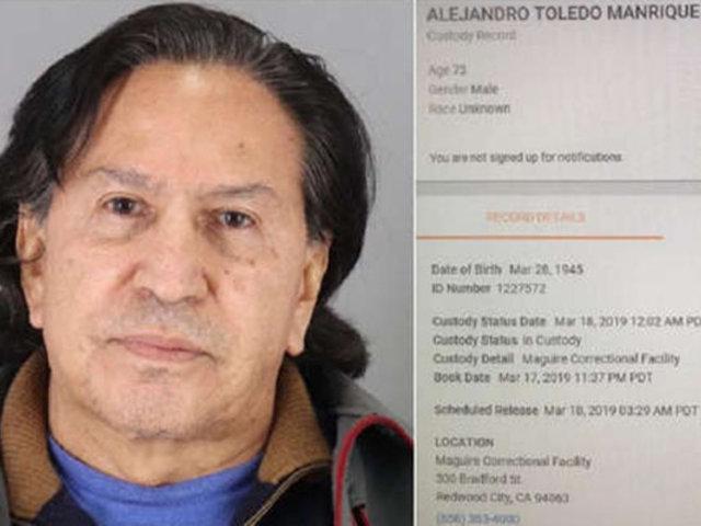 EEUU: prensa informó ampliamente sobre detención de Alejandro Toledo