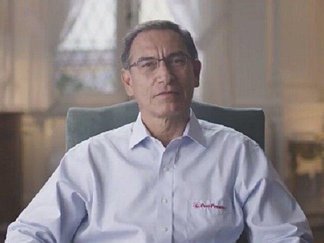 Presidente Vizcarra envía mensaje al cumplir un año de gobierno
