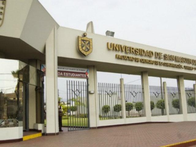 Universidad San Martín de Porres demandará a Sunedu tras sanción de S/ 8 millones