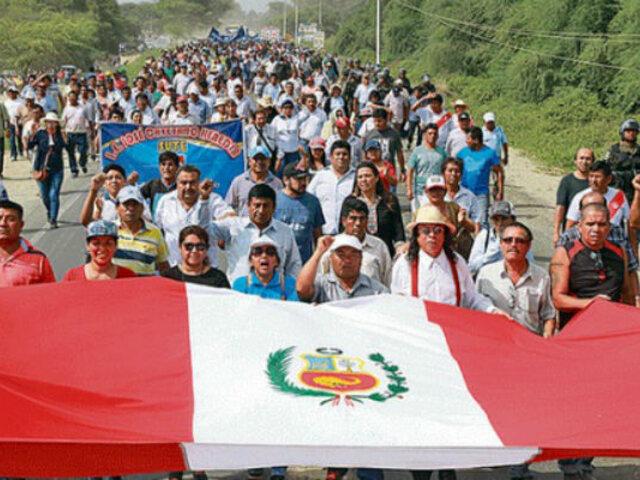 Pobladores del Bajo Piura exigen reconstrucción