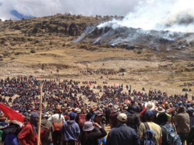 Gobierno declara en emergencia parte del corredor minero Apurímac-Cusco-Arequipa