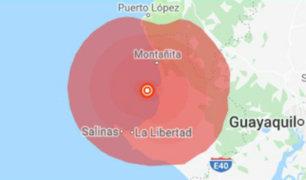 Ecuador: sismo de 6.1 grados sacudió la costa del país