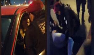 Cercado: mujer policía redujo a conductora que la agredió al resistirse a intervención