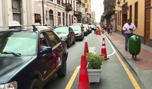 Centro Histórico: amplían espacio para peatones y ciclistas