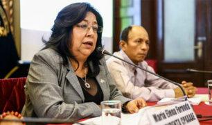 Pleno del Congreso no debatirá este miércoles suspensión contra María Foronda