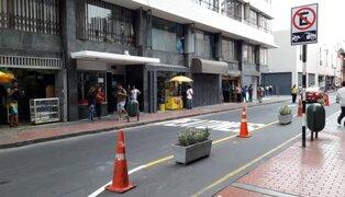 MML responde a críticas por colocación de macetas en Centro Histórico