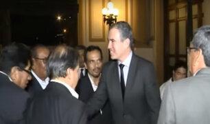 Premier del Solar culminó reuniones con bancadas