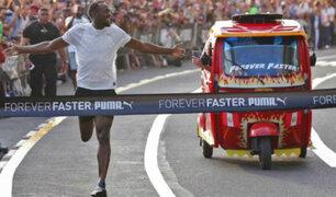 Usain Bolt en Lima: 'Rayo' compitió en velocidad contra una mototaxi