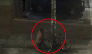 Capturan a delincuente que robaba bicicletas en Pueblo Libre