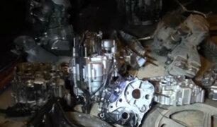 SJL: policía descubrió 'cementerio' de motos que serían robadas