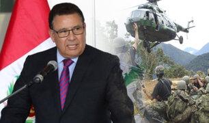 Ministerio de Defensa: Hermanos Quispe Palomino están confinados en la zona del Vizcatán