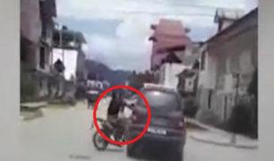 Oxapampa: habla ciudadano que grabó accidente entre patrullero y pareja de motociclistas
