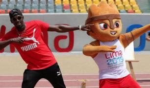 Usain Bolt: el 'rayo' dejó su huella en nueva pista atlética de la Videna