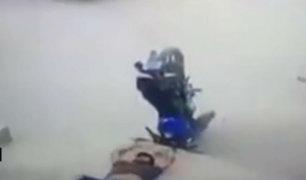 Piura: cámaras captan impactante accidente de motocicleta