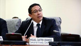 Miguel Castro confirmó su renuncia a la bancada Unidos por la República