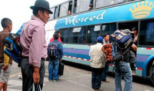 Cierre temporal de terminal de Yerbateros genera incomodidad en pasajeros