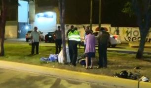 La Molina: motociclista murió tras impactar contra un árbol
