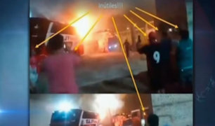 Incendio en Fiori: graban con celular mientras pasajeros pedían auxilio al interior de bus