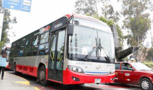 Municipio limeño anuncia ampliación de horario de servicio 206 del Corredor rojo