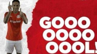 VIDEO: Paolo Guerrero marca golazo en el Internacional vs. Caxias
