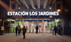 SJL: niño de siete años sufre accidente en escaleras eléctricas de estación del Metro de Lima