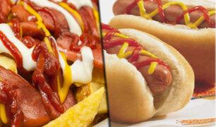 Celebremos juntos el día del Hot Dog con una sabrosa Salchipapa