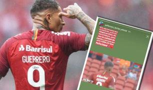 Jefferson Farfán le envió emotivo mensaje a Paolo Guerrero tras su gol