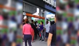 Mujeres se enfrentan a cuchillazos en estación de Metro de SJL