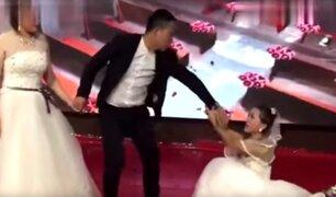 Se vistió de novia, llegó a la boda de su ex y le rogó que se casara con ella [VIDEO]