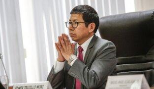 """Edmer Trujillo: """"Dejamos un ministerio que ha destrabado los principales proyectos"""""""