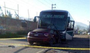 Áncash: choque entre bus interprovincial y auto dejó una persona fallecida