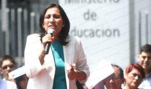 Fuerza Popular anuncia moción para interpelar a ministra de Educación
