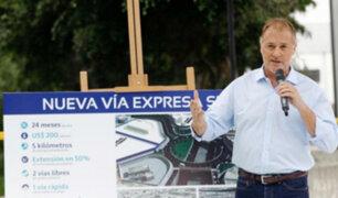 Muñoz sobre Vía Expresa Sur: usuarios pagarán peaje para uso de vía rápida
