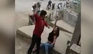 Piura: hombre lanza ladrillo a mujer en plena vía pública