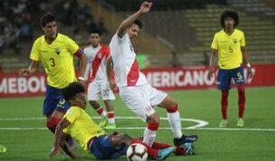 Sudamericano Sub - 17: Perú igualó 1-1 a Ecuador