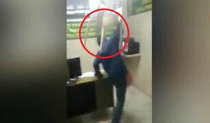 Arequipa: sujeto ebrio causa destrozos en comisaría
