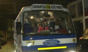 SMP: asaltan cúster llena de pasajeros en Av. Universitaria