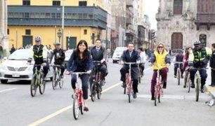 Pleno del Congreso aprobó la ley que promueve el uso de la bicicleta