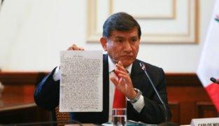 Ministro Morán explicará este lunes en el Congreso lo ocurrido en San Gabán