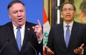 Vizcarra recibirá a Secretario de Estado de EEUU en Palacio de Gobierno
