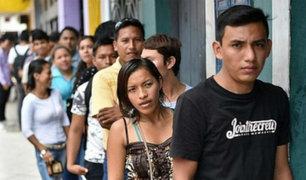 INEI: desempleo en Lima subió a 8.2% de la población económicamente activa