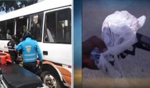Miraflores: ladrones armados disparan contra pasajero en cúster
