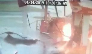 EEUU: tormentas derriban surtidor de gasolina y provoca explosión
