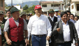 Oxapampa: Vizcarra supervisó trabajos de recuperación de vías afectadas por lluvias