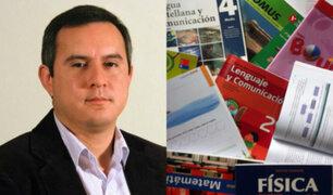 Jorge Villena: urge una reforma integral en el ministerio de Educación